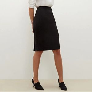 Allegory Black Wool Skirt